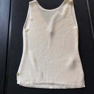 NWT Massimo Dutti sleeveless knit top, side-slits
